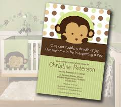 Baby Boy Monkey Theme Monkey Baby Shower Invitations Best Invitations Card Ideas