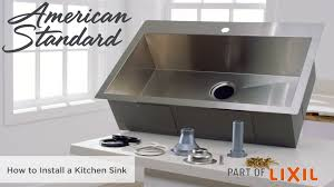How To Install Faucet In Kitchen Sink Tulsa 33x22 Kitchen Sink Kit American Standard