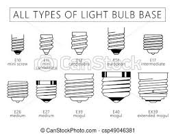 different light bulb bases all types of light bulb base eps all types of light bulb vector