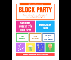 template for flyer free download this block party flyer template and other free printables
