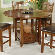 Tall Dining Room Sets by Winners Only Zahara Round Counter Height Dining Table With Granite