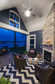 lake house with navy exterior home bunch