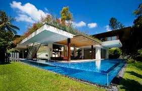 surprising tropical house plans with courtyard feat glass swimming