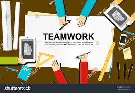 Teamwork Illustration Teamwork Concept Flat Design Stock Vector