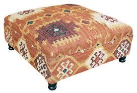Small Leather Ottoman Furniture Small Leather Ottoman Storage Kilim Ottoman Kilim