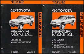 1998 toyota 4runner owners manual 1992 toyota 4runner repair shop manual set original