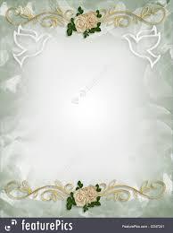 dove wedding invitations celebration wedding invitation template roses stock