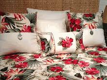 Tropical Bedspreads And Coverlets Barkcloth Duvet Cover Twin Oahu