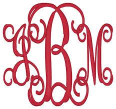 create monogram initials spotlight on monogram style 3 initials classic miss s