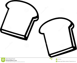 slice of bread clipart black and white clipart panda free