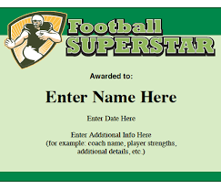 certificate templates for sports and award maker