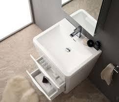 25 Inch Vanity Acqua Milano 25 Inch Modern Bathroom Vanity White Finish
