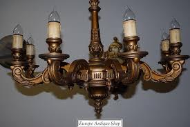 Brass Antique Chandelier Vintage Wooden Chandelier Editonline Us
