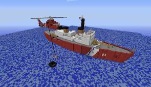Minecraft Project Ideas Hh 65 Dolphin Coast Guard Helicopter Minecraft Project