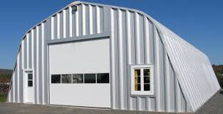 garage duplex metal barns with living quarters in red and white