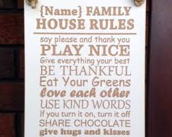Family House Rules House Rules Sign Etsy