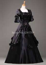 baroque halloween costumes aliexpress com buy black vintage gothic rococo ball gown