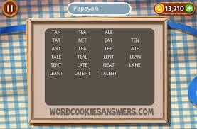 word cookies papaya level 6 word cookies answers