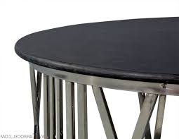 Exotic Coffee Tables by Round Stone Top Coffee Table Militariart Com