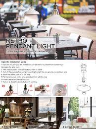 b2ocled retro kitchen pendant lighting over island metal white
