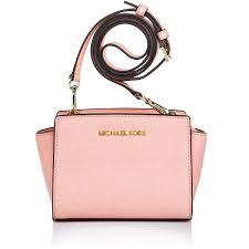 light pink michael kors handbag michael kors designers luxury michael kors selma mini messenger