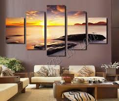 2018 Hot Sell Diamond Sunset Beach Stone Modern Home Wall Decor