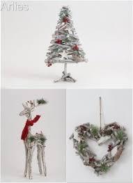 birch wood twig xmas ornaments in decorations