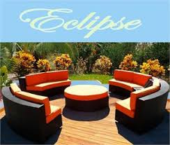 eclipse modern round sectional sofa outdoor wicker patio furniture