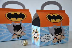 diy favor box template printable flying batman favor box for birthday