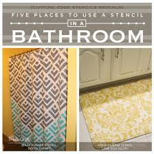 bathroom stencil ideas five places to use a stencil in a bathroom stencil stories