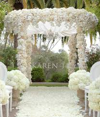wedding arches decorated with flowers luxury glamorous indoor wedding ceremony arch decorations archives