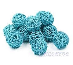 light blue decorative balls amazon com conserve s rattan ball christmas gifts small light