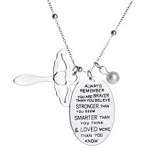 inspirational necklace wholesale inspirational necklace stronger always remember you are