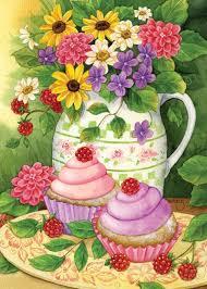 Decorative Garden Flags Amazon Com Toland Home Garden 112562 Garden Cupcakes Decorative