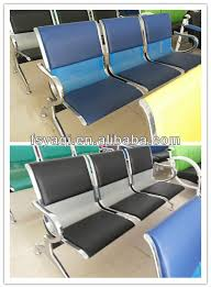 stainless steel waiting room bench seating 2 seater with tea table