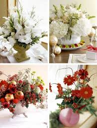 White Christmas Centerpieces - 55 beautiful christmas centerpieces digsdigs
