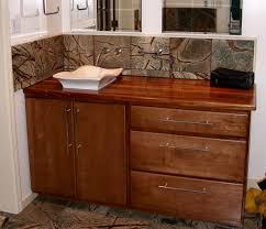 sink cutouts in custom wood countertops edge grain african mahogany vanity top with vessel sink and waterlox finish