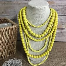 yellow necklace images The metal daisy jewelry yellow howlite drape necklace earrings jpg