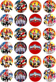 power rangers cake toppers power rangers cupcake fairy cake edible wafer paper toppers x 24