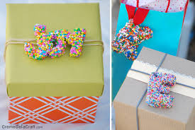 diy letter gift toppers from sprinkles