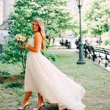 wedding dress nyc married in new york wedding dress instagram popsugar fashion
