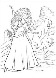 Brave Coloring Pages Merida And Bear Coloringstar Disney Brave Coloring Pages