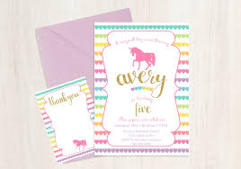 free rainbow birthday invitations unicorn party invitation birthday invitation free thank you