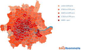 average rent price room rental index easyroommate