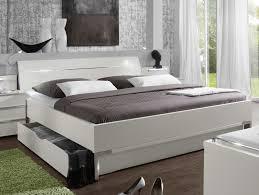 Kleines Schlafzimmer Nur Bett Modernes Schubkasten Doppelbett In Weiss Salford I Betten De