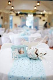 Centerpieces For Baptism Kara U0027s Party Ideas Guest Table Centerpieces From A Whale Themed