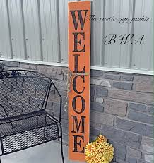 wood halloween welcome sign welcome porch sign porch signs