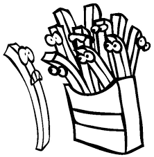 cartoon french fries coloring cartoon french fries