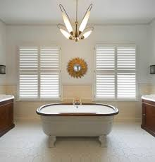 Modern Art Deco Bathrooms by Art Deco Bathroom Traditional With Wood Trim Cotton Shower Curtains
