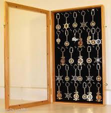 box keychain keychain display wall cabinet shadow box with glass door